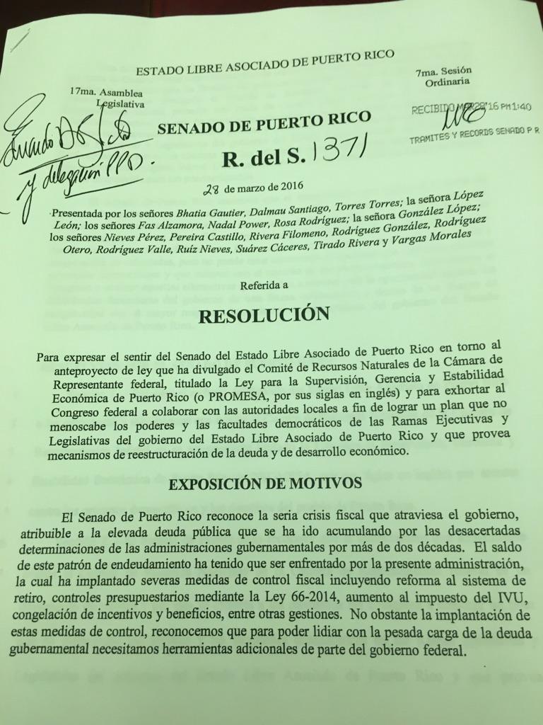 Resolucion del Senado 1371
